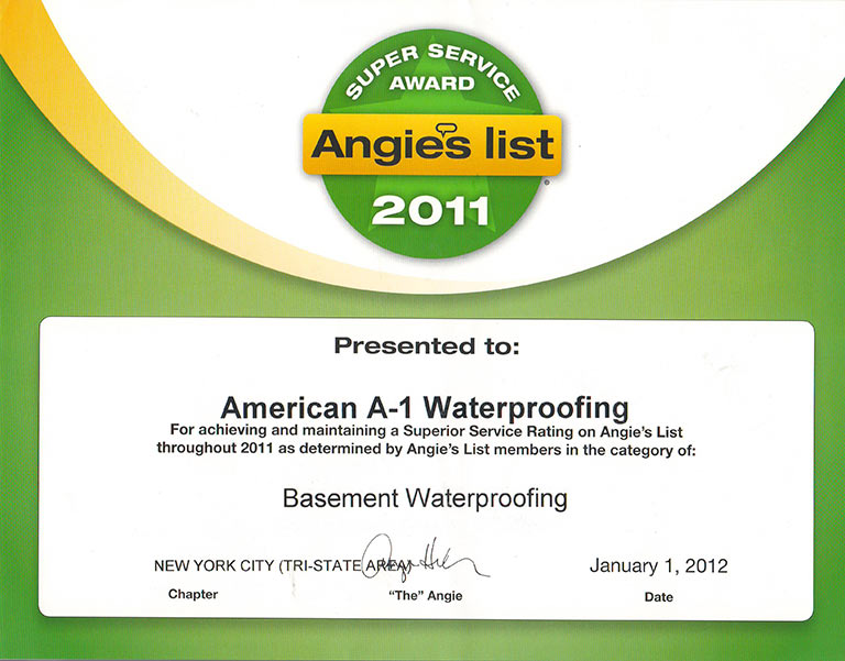 American A-1 Waterproofing - Central & North Jersey Basement